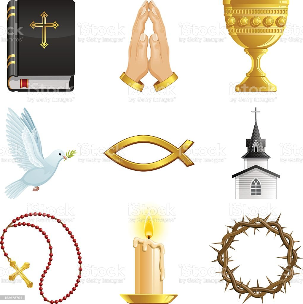 Symbols of the Christian Faith royalty-free stock vector art