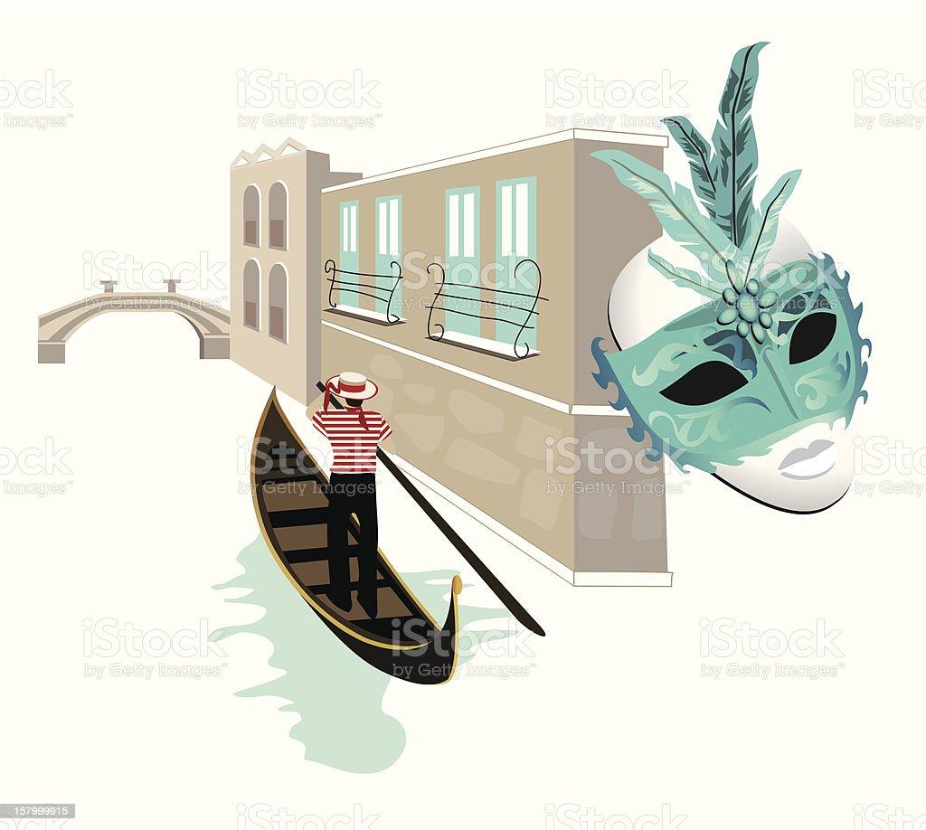 Symbols of Venice royalty-free stock vector art