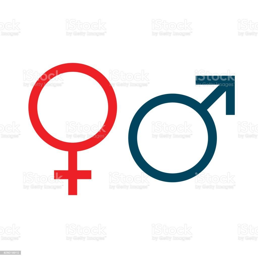 symbols of Venus and Mars. vector illustration. vector art illustration
