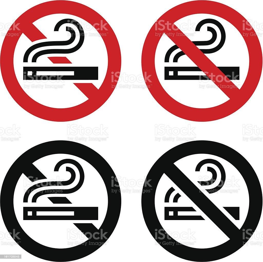 Symbols set - No smoking royalty-free stock vector art