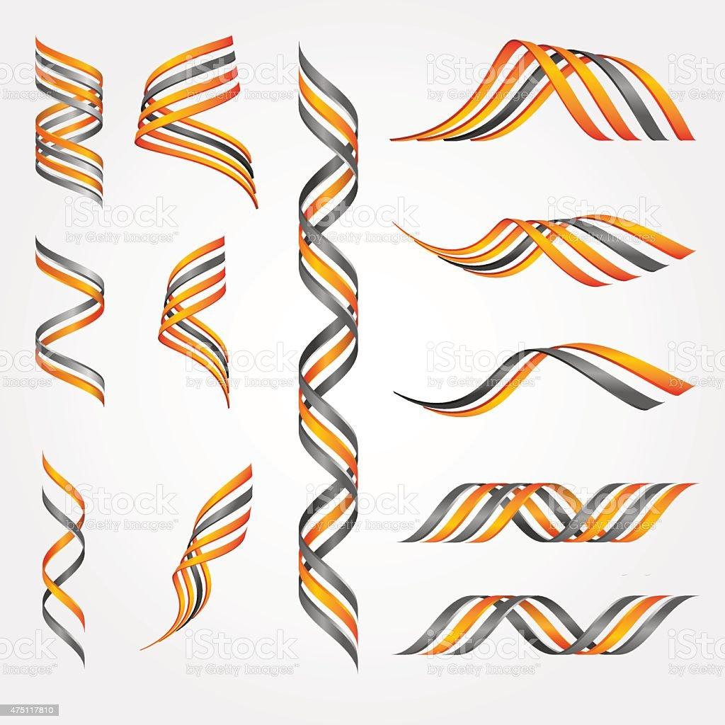 3D symbols vector art illustration