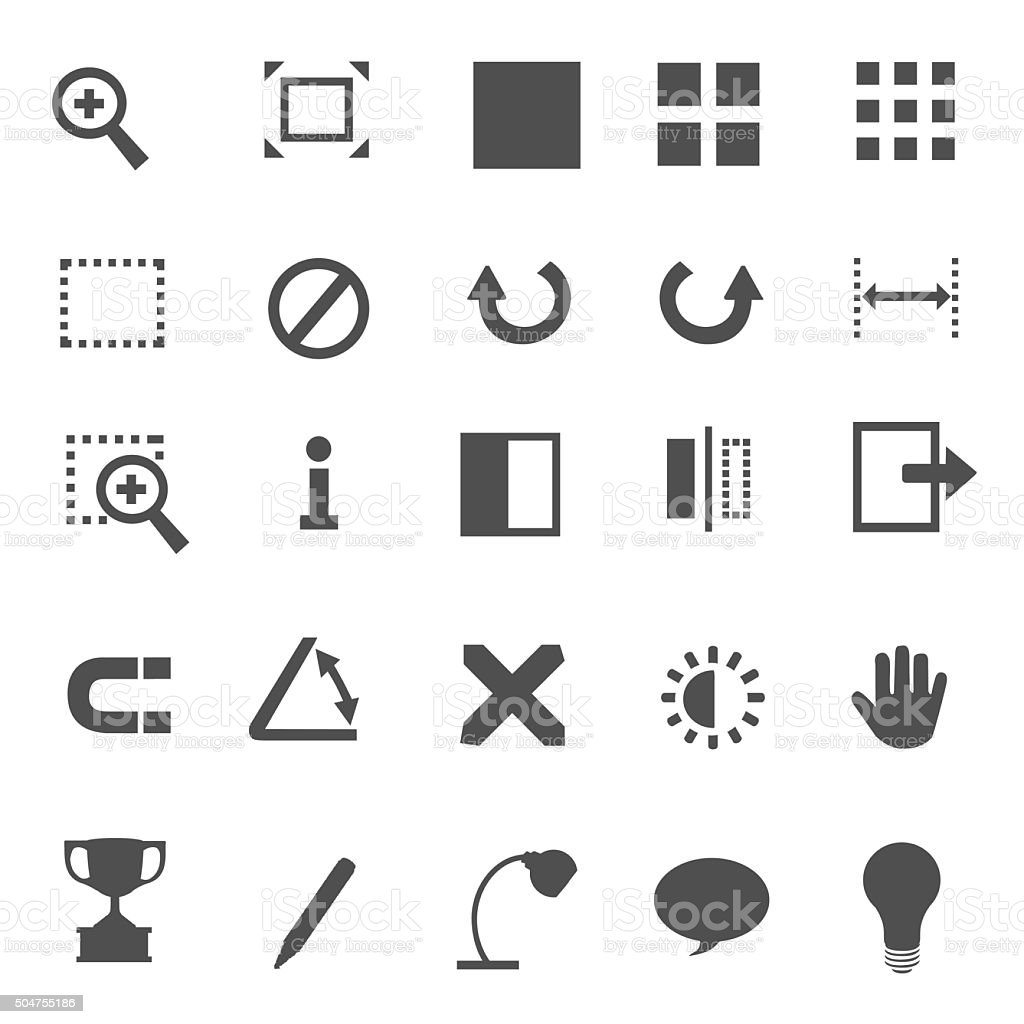 Symbols vector art illustration