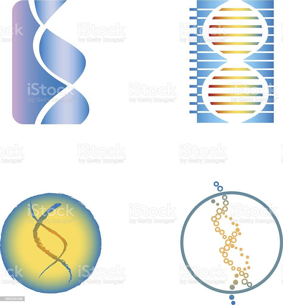 DNA symbols - vector royalty-free stock vector art