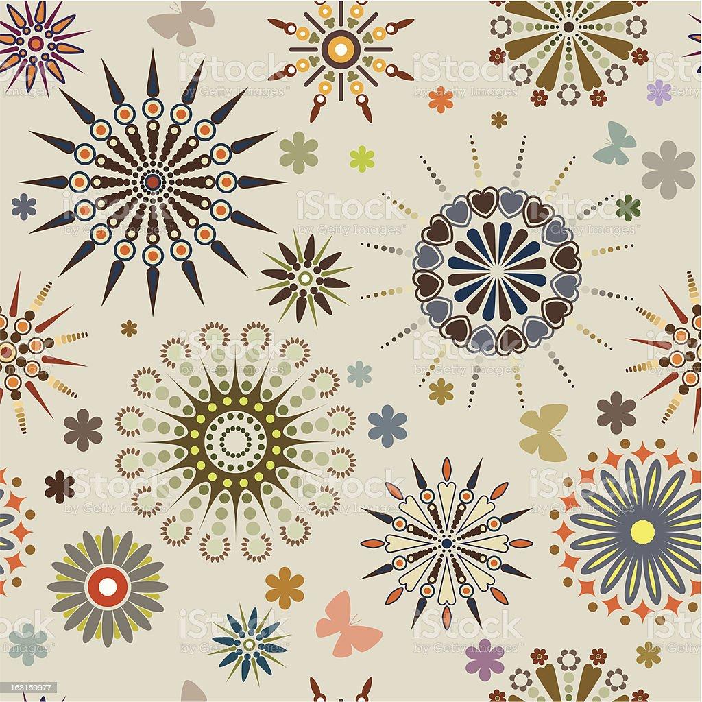 Symmetrical flowers royalty-free stock vector art