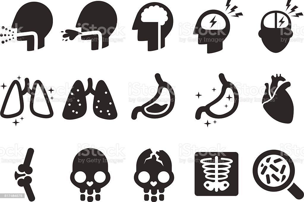 Symptoms Icons - Medical Illustration vector art illustration