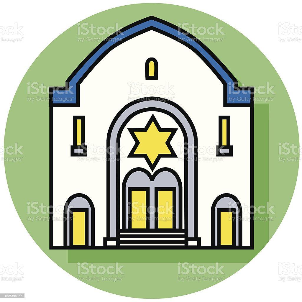 Synagogue icon vector art illustration