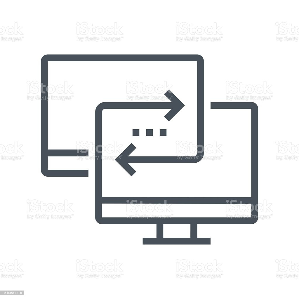 Synchronisation icon vector art illustration