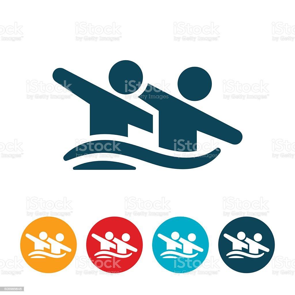 Synchronized Swimming Icon vector art illustration