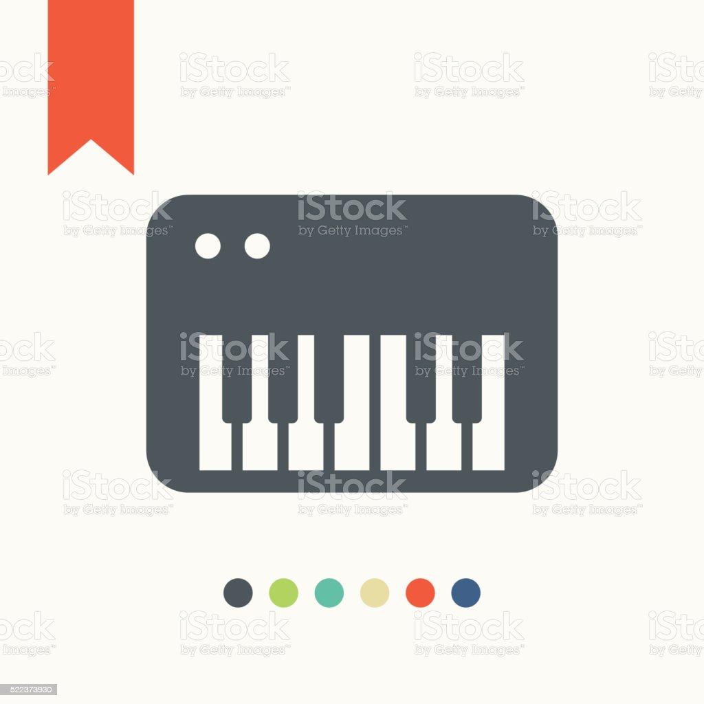 Synthesizer icon vector art illustration