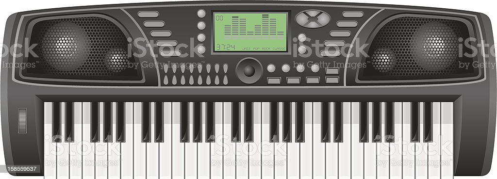 synthesizer vector illustration royalty-free stock vector art