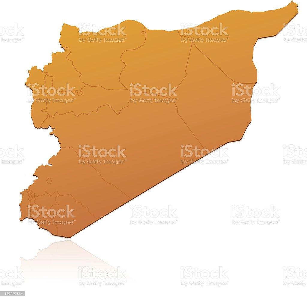 Syria map orange royalty-free stock vector art