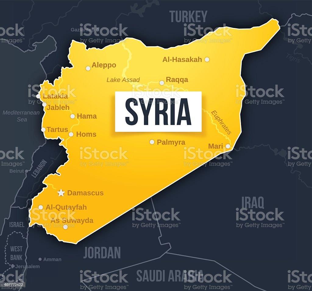 Syria Map vector art illustration
