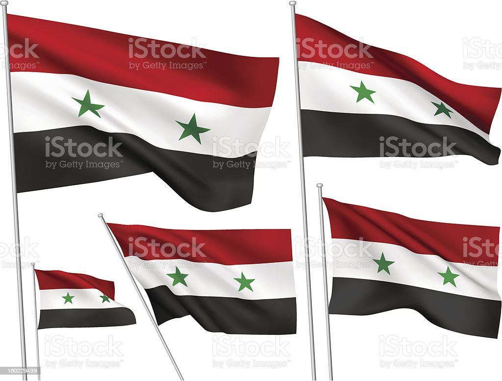 Syria vector flags royalty-free stock vector art