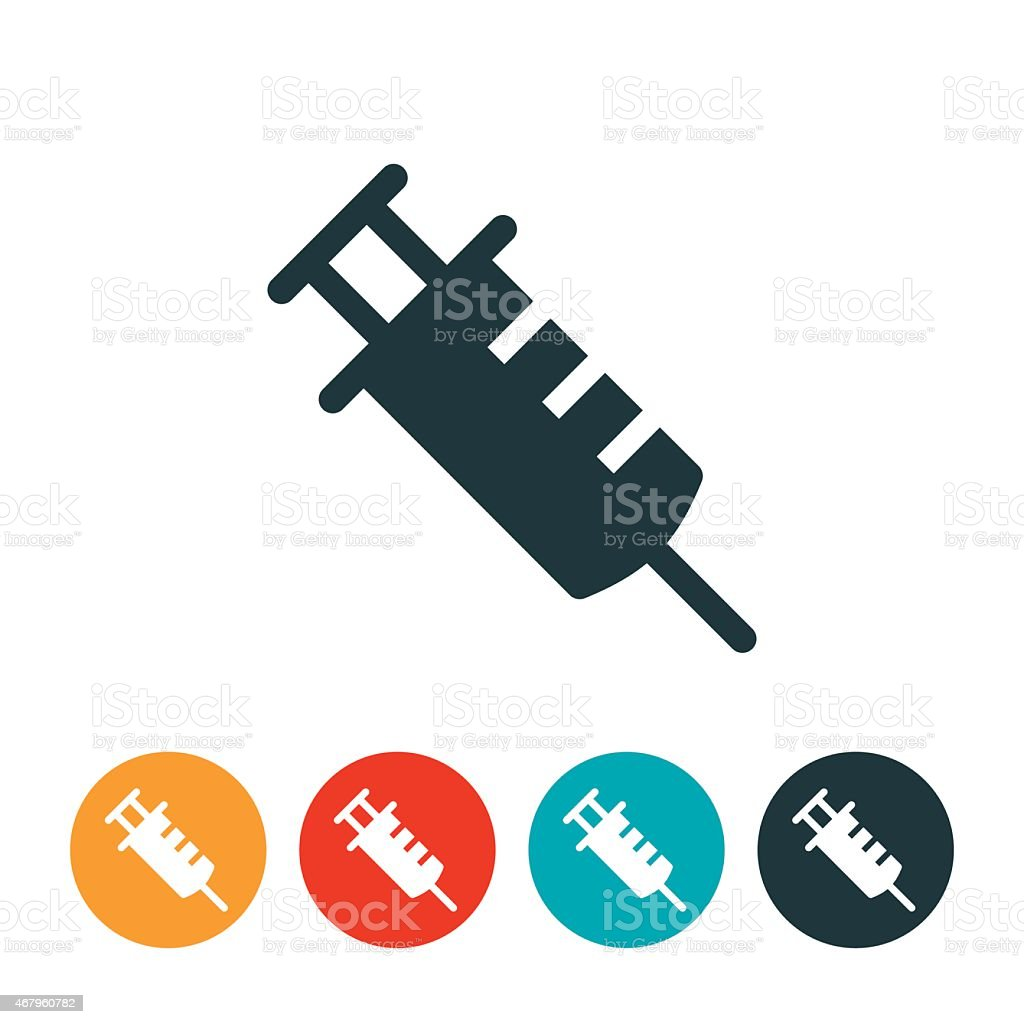 Syringe Icon vector art illustration