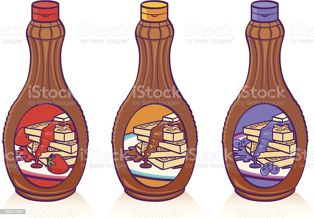 Syrup royalty-free stock vector art
