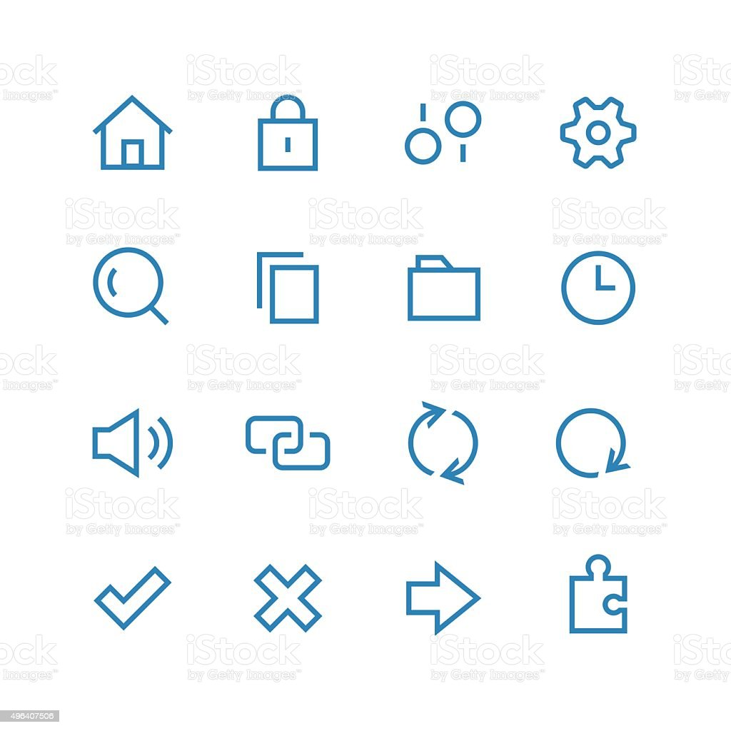 System icon set vector art illustration