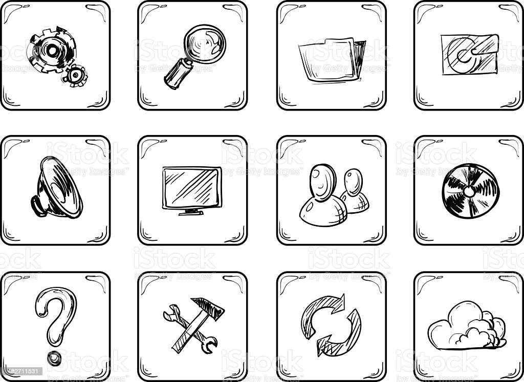 System icon royalty-free stock vector art