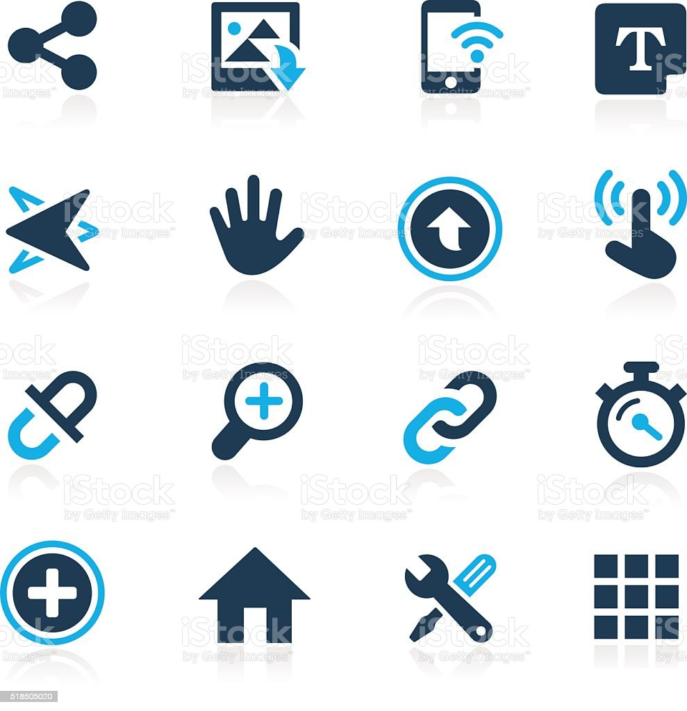 System Icons Interface // Azure Series vector art illustration