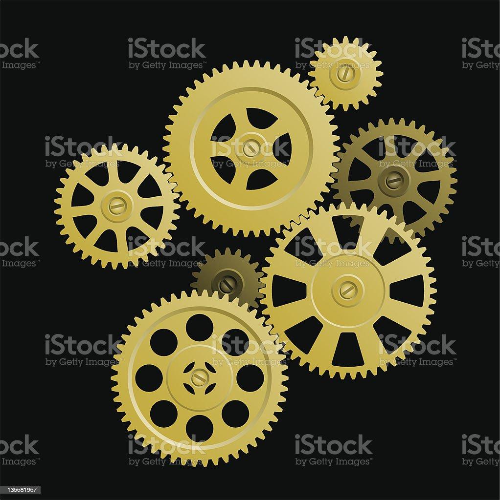 System of gears. vector art illustration