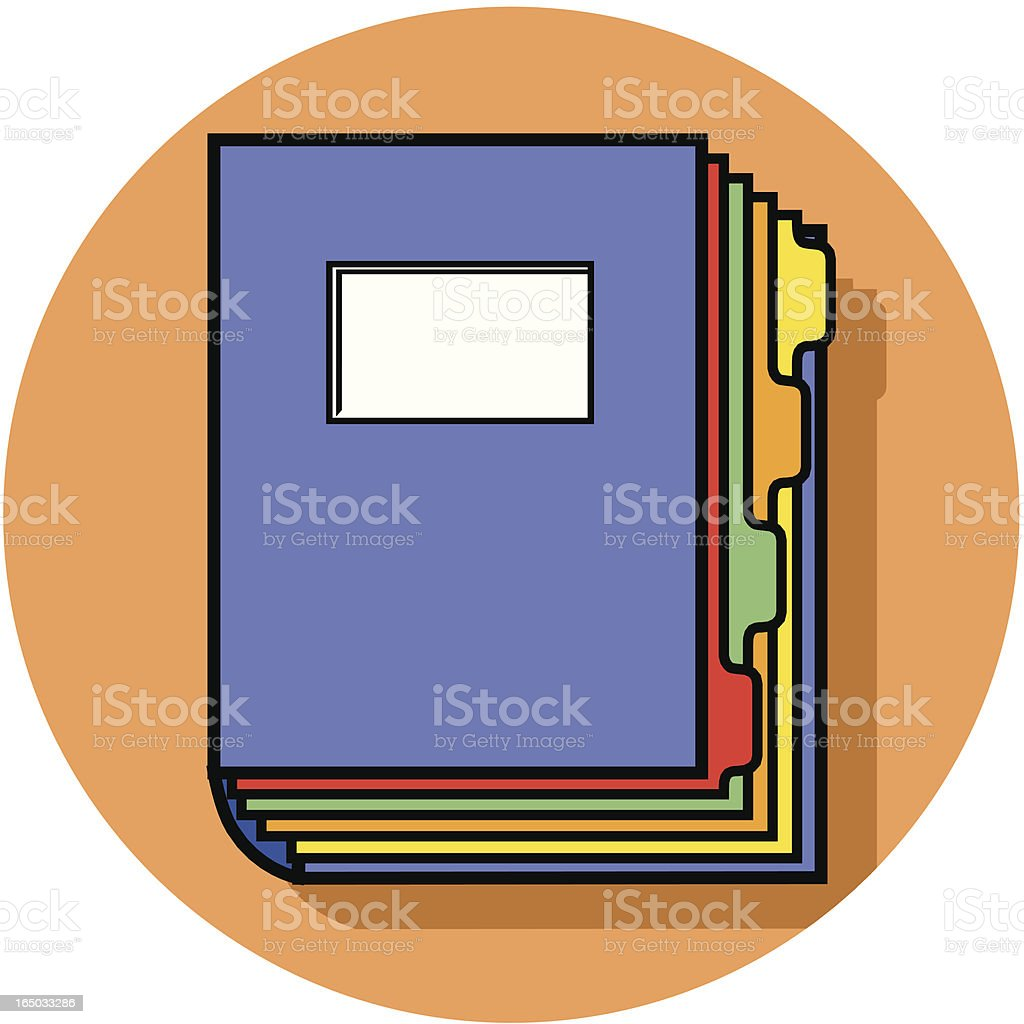 tabbed binder icon vector art illustration