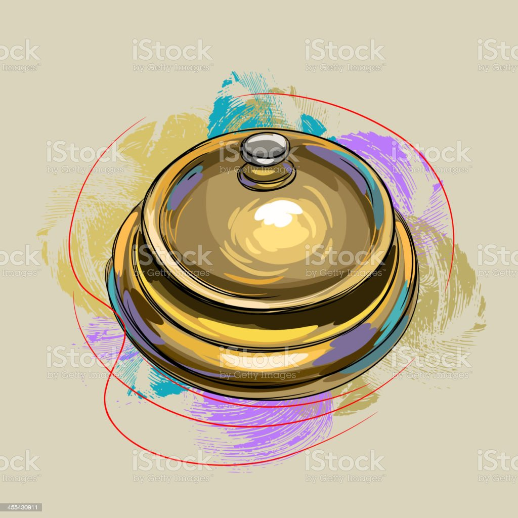 Table Bell royalty-free stock vector art