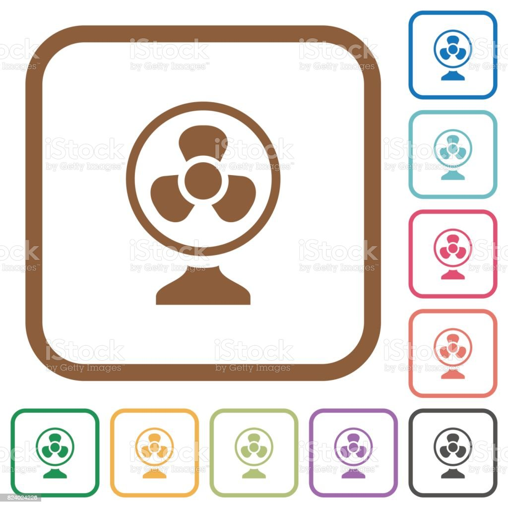 Simple table free other icons - Table Fan Simple Icons Royalty Free Stock Vector Art