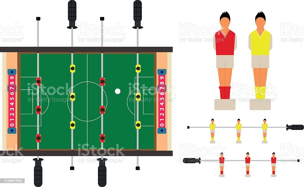 Table football set. vector art illustration
