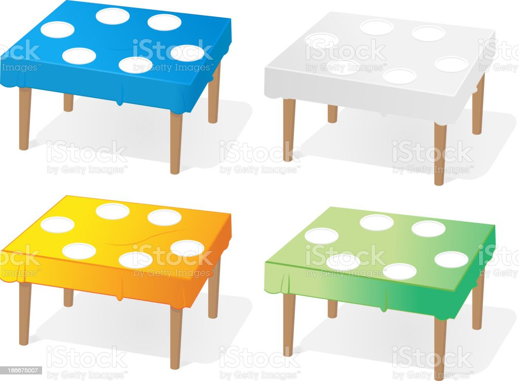 Table Icon Set royalty-free stock vector art