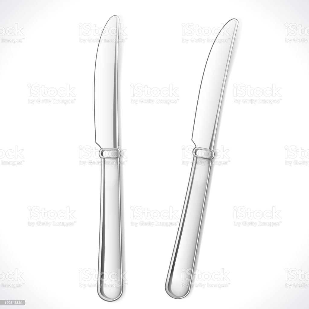 Table Knife royalty-free stock vector art