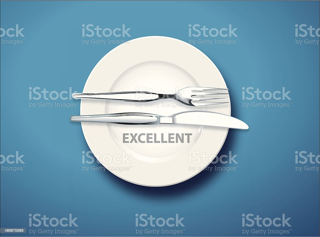 Table manners, Excellent vector art illustration