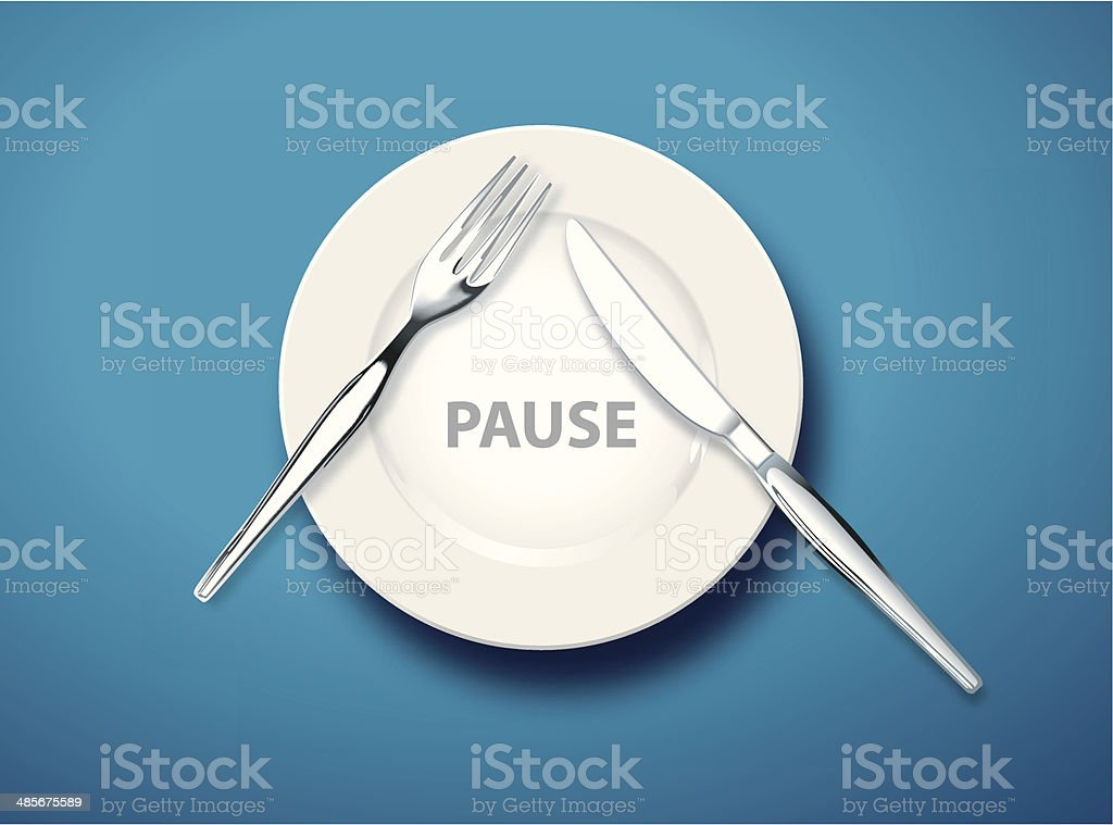 Table Manners, Pause royalty-free stock vector art