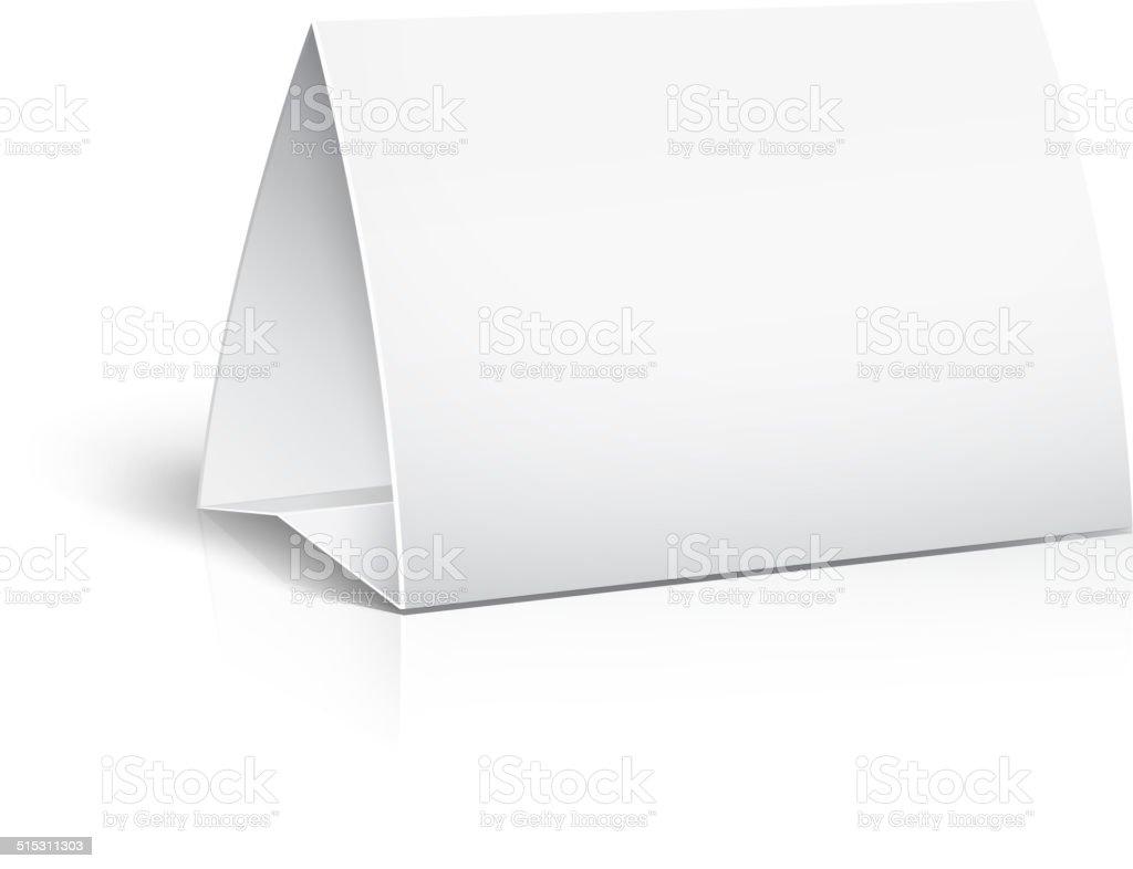 table paper card vector art illustration