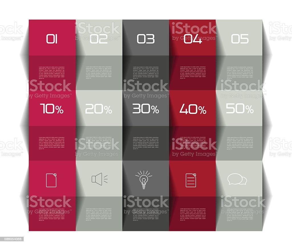 Table chart design - Table Schedule Template 3d Business Design Royalty Free Stock Vector Art