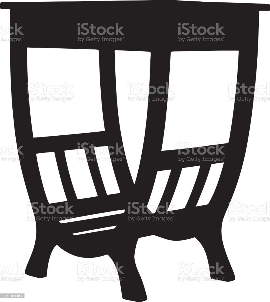 Table silhouette royalty-free stock vector art