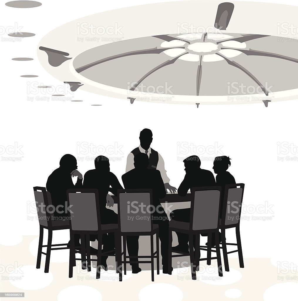 Table Stakes Vector Silhouette vector art illustration