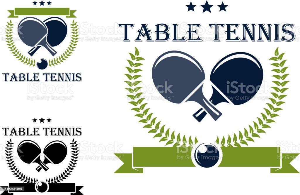 Table tennis emblems and symbols vector art illustration