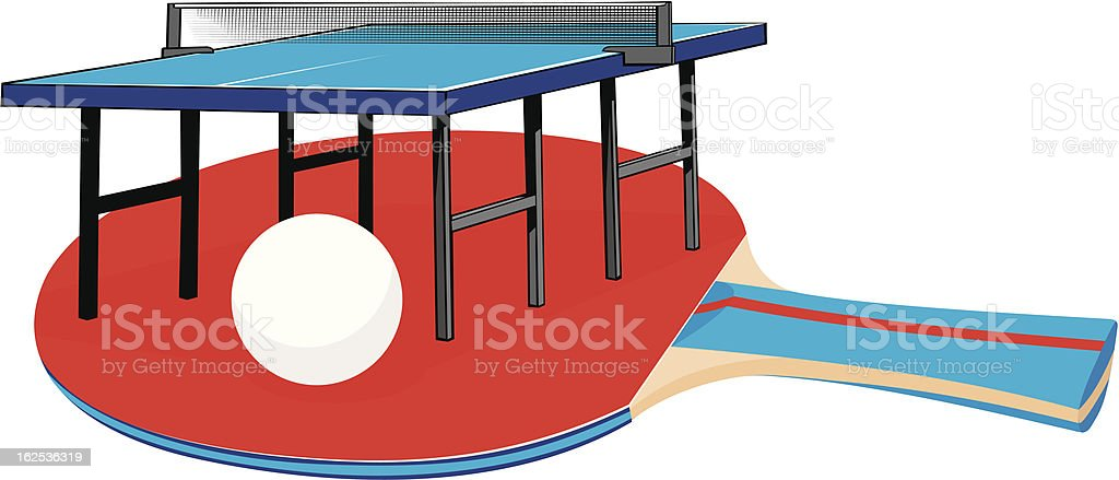 table tennis - equipment royalty-free stock vector art