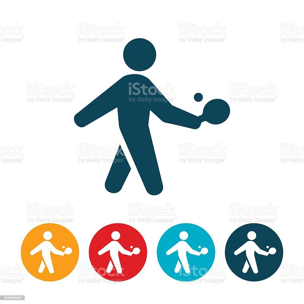 Table Tennis Icon vector art illustration