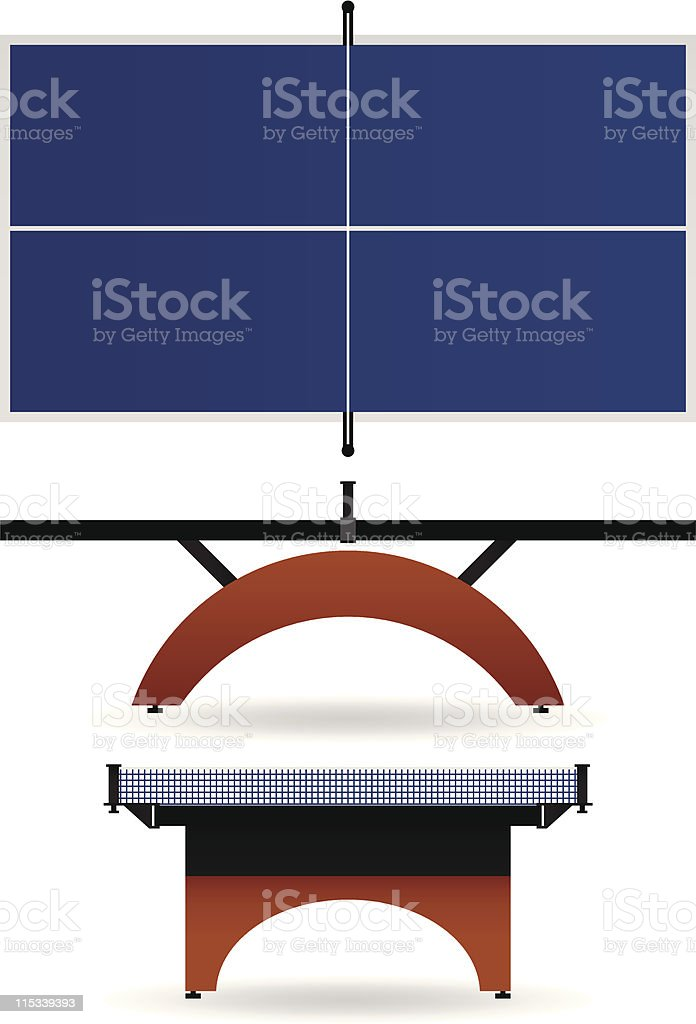 Table Tennis in Vector royalty-free stock vector art