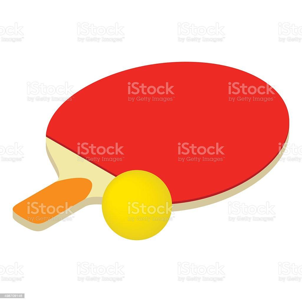Table tennis isometric 3d icon vector art illustration