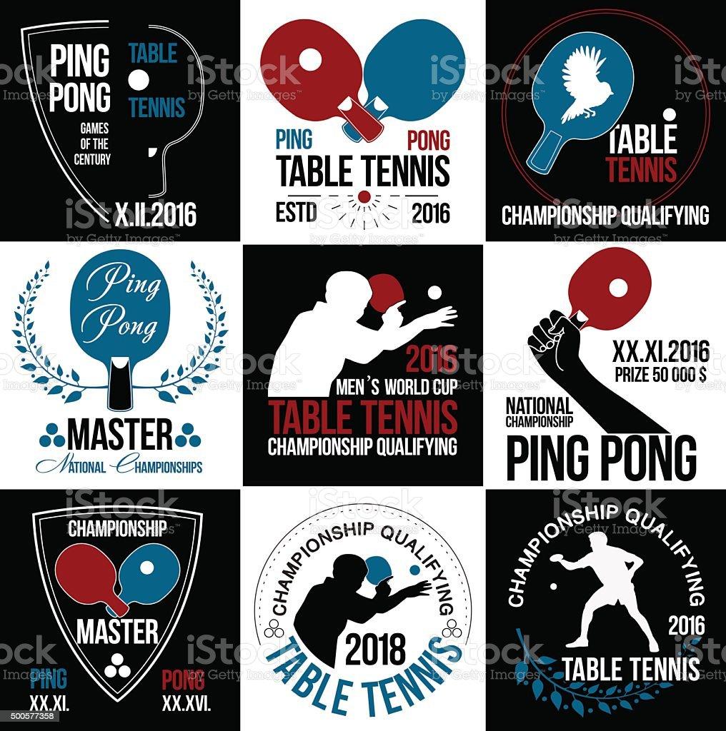 Table tennis logo. Ping pong logo. vector art illustration