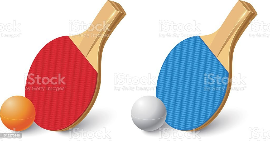 Table Tennis Racket vector art illustration