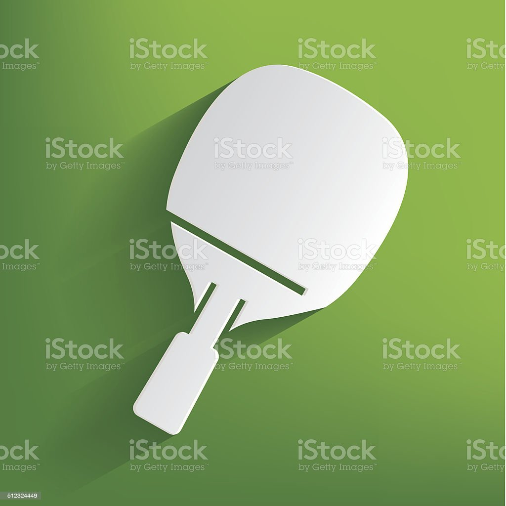 Table tennis symbol on green background,clean vector vector art illustration