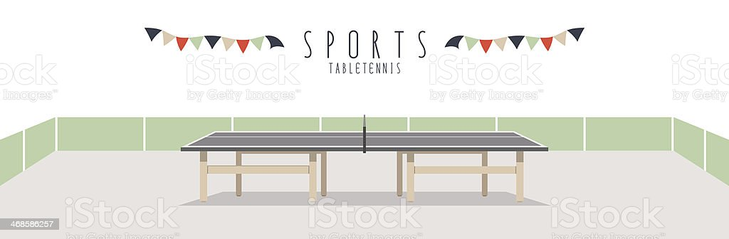 Table Tennis (Sports) vector art illustration
