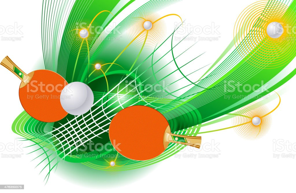 Table tennis royalty-free stock vector art