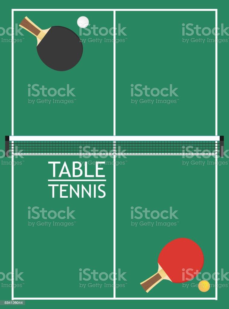 table tennis vector vector art illustration