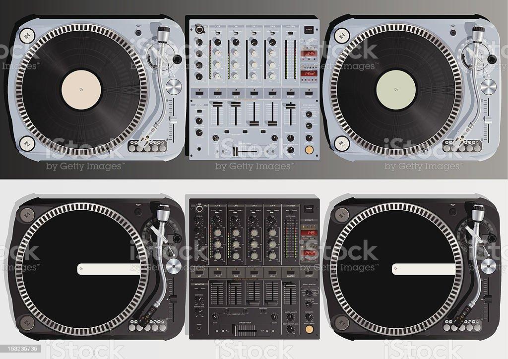 DJ Table vector art illustration