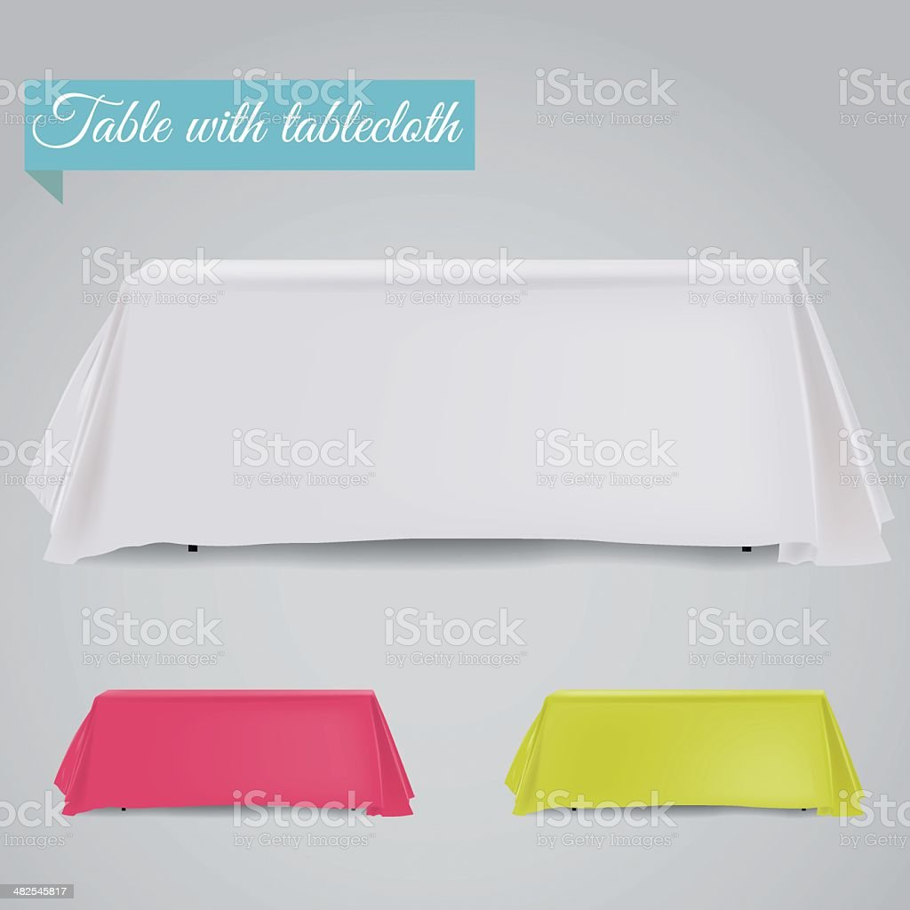 Table with table cloth vector art illustration