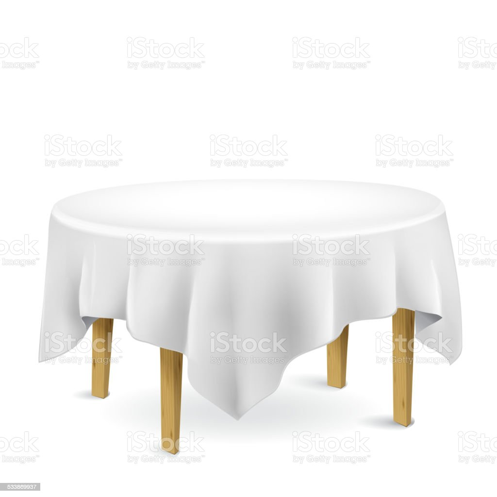 table with tablecloth vector art illustration