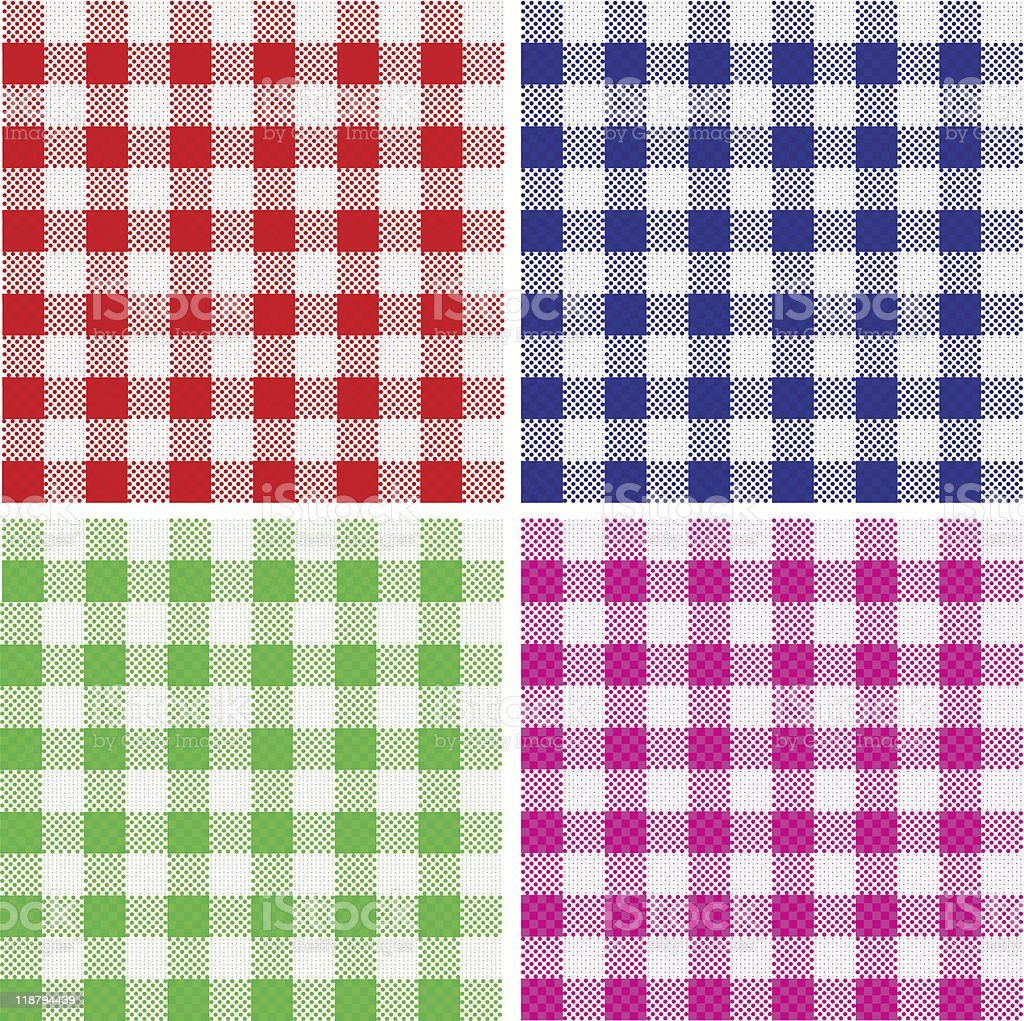 Tablecloth pattern royalty-free stock vector art